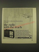 1967 Motorola XP7C Radio Ad - The Radio With the Reach