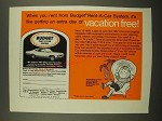 1967 Budget Rent-a-Car Ad - An Extra Day of Vacation Free