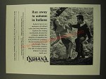 1967 Indiana Tourism Ad - Run Away to Autumn in Indiana