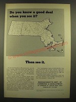 1966 Massachusetts Department of Commerce & Development Ad - Good Deal