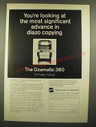 1966 GAF Ozamatic 360 Diazo Copier Ad - Most Significant Advance