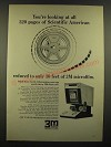 1966 3M Microfilm System Ad - All 320 Pages of Scientific American