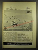 1966 U.S. Naval Laboratories in California Ad - Explore Inner-Space