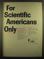 1966 Du Pont Photo Products Department Ad - For Scientific Americans Only