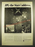 1966 JPL Jet Propulsion Laboratory Ad - JPL the Stars' Address