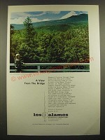 1966 Los Alamos Scientific Laboratory Ad - A View From the Bridge