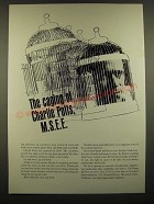 1966 Fairchild Semiconductor Ad - The Caging of Charlie Potts, M.S.E.E.