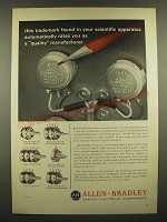 1966 Allen-Bradley Type J Variable Resistors Ad - Rates You As Quality