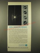 1966 Sandia Corporation Ad - Metal Combustion Research