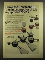 1966 Univac 9200 Computer Ad - At Tab Equipment Prices