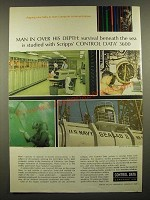 1966 Control Data 3600 Computer System Ad - Man in Over His Depth