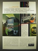 1966 Control Data 3200 Computer System Ad - Lockheed Missiles