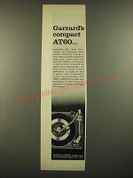 1966 Garrard AT60 Turntable Ad - Compact