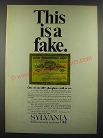1966 GT&E Sylvania Chemical & Mettallurgical Division Ad - This is a Fake