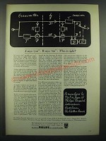1966 Philips Research Laboratories Ad - A Says Yes B Says No