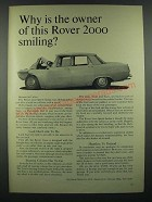 1966 Rover 2000 Sports Sedan Ad - Why is the Owner Smiling?