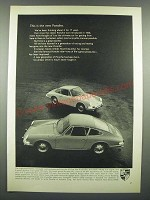 1966 Porsche 911 and 912 Cars Ad - This is the New Porsche