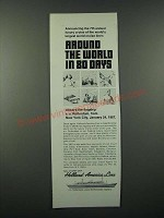1966 Holland-America Line Cruise Ad - Around the World in 80 Days