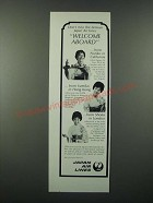 1966 JAL Japan Air Lines Ad - Welcome Aboard