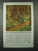 1966 Sinclair Oil Ad - Keep a Forest from Becoming a Neon Jungle