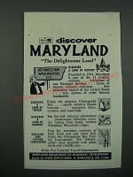 1966 Maryland Department of Economic Development Ad - Discover