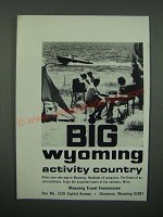 1966 Wyoming Travel Commission Ad - Big Wyoming Activity Country