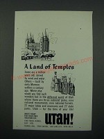 1966 Utah Travel Council Ad - A Land of Temples