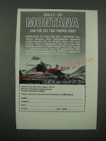 1966 Montana Highway Commission Ad - Mount Wilbur