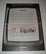 1966 Ampex Videofile System Ad - First Fully Electronic File