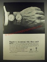 1965 Bulova Accutron Model 560 Watch Ad - Why They Can't Agree
