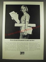 1965 3M Microfilm Ad - How Can She Copy All This Paperwork?