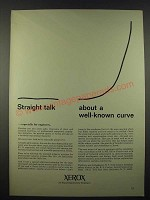 1965 Xerox Corporation Ad - Straight Talk About a Well-Known Curve