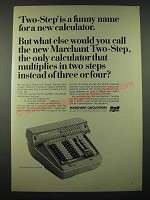 1965 SCM Marchant Two-Step Calculator Ad - A Funny Name