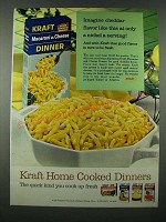 1965 Kraft Macaroni & Cheese Dinner Ad - A Nickel a Serving