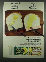 1965 Kraft Whipped Miracle Margarine Ad - Your Spreading Problem
