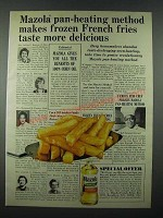 1965 Mazola Corn Oil Ad - Makes Frozen French Fries More Delicious