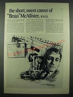 1965 Fairchild Semiconductor Ad - The Short, Sweet Career of Brain McAllister