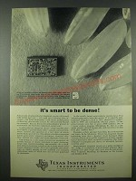 1965 Texas Instruments Semiconductor Ad - It's Smart to be Dense