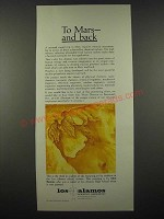 1965 Los Alamos Laboratory Ad - To Mars and Back