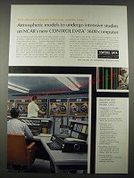 1965 Control Data 3600 Computer Ad - Atmospheric Models NCAR