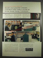 1965 Control Data 6600 Computer Ad - Atomic Energy Commission