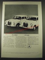 1965 Mercedes-Benz 190D and 190 Cars Ad - It's a Diesel It's a Gas