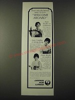 1965 JAL Japan Air Lines Ad - Welcome Aboard
