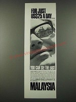 1965 Malaysia Tourism Ad - For Just US $25 a Day