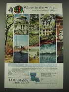 1965 Louisiana Tourism Ad - Where in the World