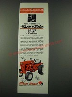 1965 Wheel Horse Lawn/Garden Tractor Ad - Changes Speed and Direction