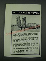 1965 Airstream Travel Trailer Ad - The Fun Way to Travel