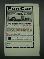 1965 Checker Marathon Car Ad - Fun Car