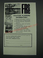 1965 Minnesota Tourism Ad - Vacation Planning Information
