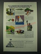 1964 New York State Tourism Ad - Double the Fun of Your World's Fair Trip